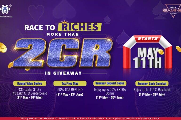 Race to Riches at PokerDangal. More than 2 Cr in Giveaway